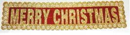 3x FRÖHLICHE WEIHNACHTEN papier Banner Party Dekor Dekoration Tür fenster - $8.42
