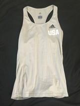 Adidas USA Women Ladies Tennis Tank Top Gray Climalite Small Running Yoga C image 1