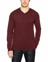 Calvin Klein Jeans Men's Long Sleeve Henley Sweater Cherry Grindle Size 2XL - $25.25