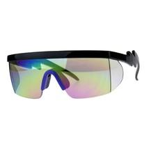 80's Goggle Sunglasses Oversized Half Rim Ski Fashion Multicolor Lens - $15.95