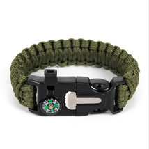 Braided Bracelet Men Paracord Survival Bracelet Outdoor Camping Rescue E... - $12.66