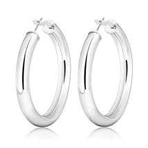 Women's Fashion Hoop Earrings 50mm/2in Silver Plated Dangle Hoops Earrin... - $13.19