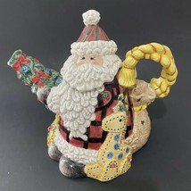 Fitz and Floyd Christmas Santa Claus and Toys Teapot - $46.40