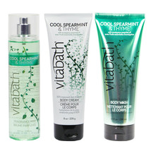 Vitabath Cool Spearmint & Thyme Body skin Care 3-Pc Gift Set - $34.50