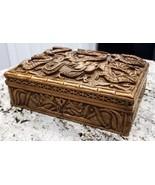 Hand carved Wood Locking Jewelry Box From Kathmandu, Nepal - $204.75