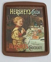 Hershey's Cocoa Chocolate Tray England 1982 Rectangular 6 x 8 Bitter Sweets - $9.46