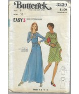 Vintage Butterick Pattern #3239-Junior Dress-Size 9, Bust 32-Easy 3 Main... - $8.56