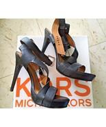 Ladies Michael Kors Black Tumbled Leather High Platform Sandals (10 M) - $70.13