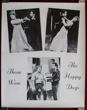 """Vintage HAPPY DAYS Poster The Fonz """"Those were the Happy Days"""" 23x29 - $9.50"""