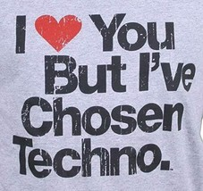 I Love You But I've Chosen Mens Techno Grey Cotton Tank Top Muscle Shirt NEW image 2