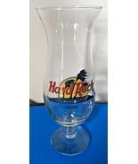 "Hard Rock Cafe ROME Hurricane Glass Classic HRC Logo 9.25"" Tall Bar Cock... - $19.99"