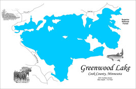 Wood Laser Cut Map of Greenwood Lake, MN Topographical Engraved Map - €106,29 EUR+