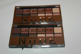 2x NUDE Eyeshadow L.A Colors 12 Palette Shade & Highlight Eye Shadow BRAND NEW - $10.44