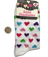 Bright GLITTER HEARTS CREW SOCKS-Novelty Print Love Rockabilly Lolita Di... - $4.92