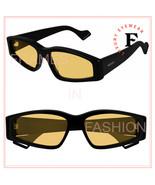 GUCCI 0705 Black Yellow Slim Rectangular Mask Sunglasses GG0705S 003 Unisex - $282.15