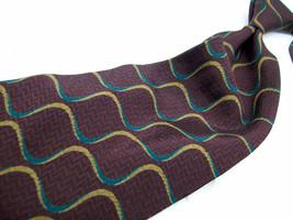 GIORGIO ARMANI  Cravette Burgundy ABSTRACT   Mens SILK Necktie  s 11-1* - $21.99