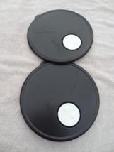 Tupperware Set Of 2 Lid Only 3702 Black W/ White Rock N Serve Button Cl EAN - $19.99