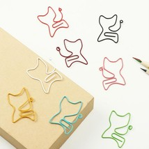 New 24PCS/lot Kawaii Cat Shape Metal Bookmark Clip Memo Clip Paper Clip ... - $3.99