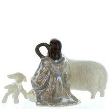 Hagen Renaker Specialty Nativity Shepherd Lamb & Sheep Ceramic Figurine Set image 7