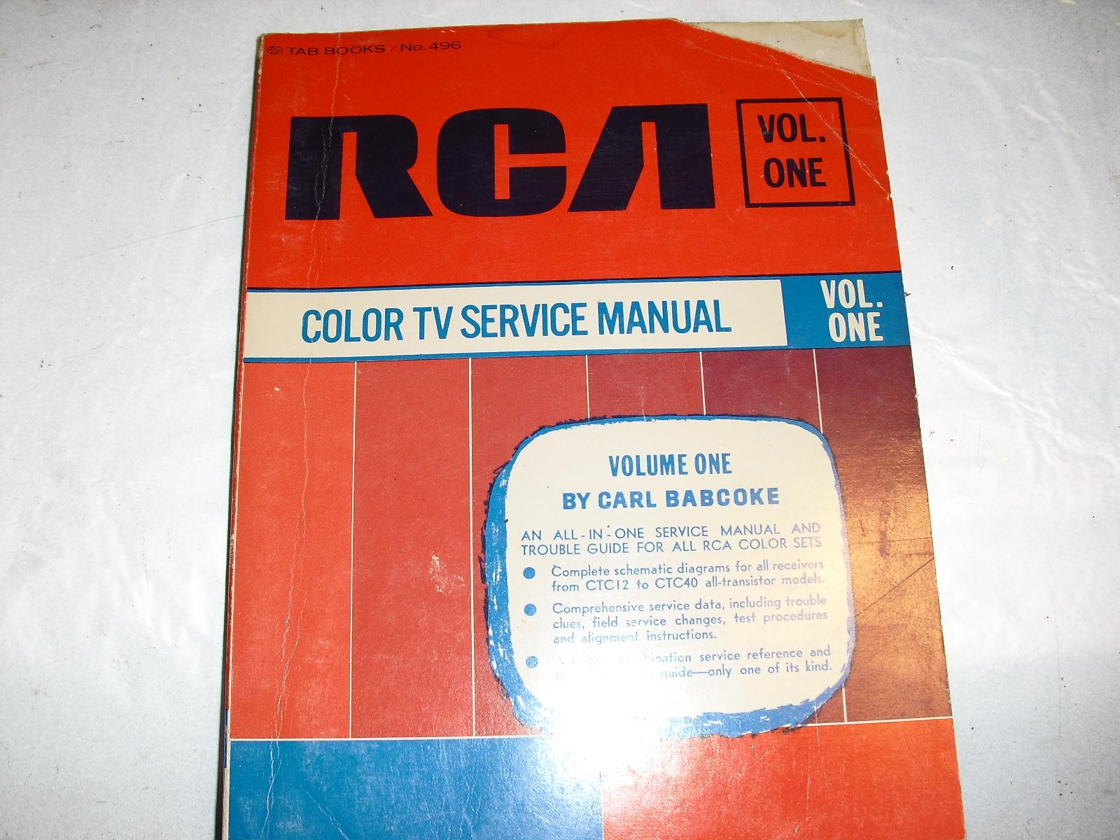 rca   vol  one  color  service  manual