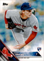 2016 Topps #109 Henry Owens Boston Red Sox Rookie Card - $1.25