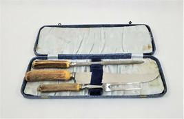 M. Bernard Sheffield Stainless Steel Carving Knife, Fork, Sharpener Set ... - $40.33