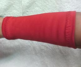 Orange Red Fashion Wristband Wrist Bracelet Cuff Tattoo Cover Up One Pair - $7.00