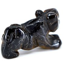 Tiger's Eye Gemstone Tiny Miniature Lion Figurine Hand Carved in China image 4