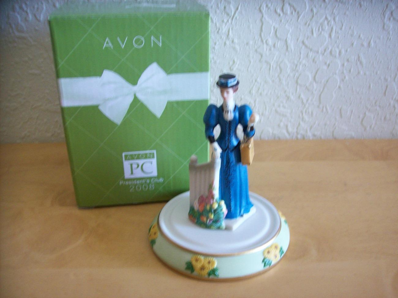 "Avon 2008 President's Club ""Mrs. P.F.E Albee"" Figurine with Base"