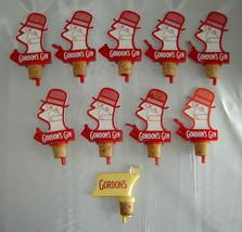 Vintage Lot (10 pcs, some new) GORDON'S GIN Plastic Bottle Pourer Barwar... - $19.50