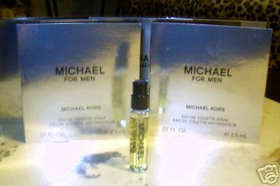 Primary image for MICHAEL KORS for MEN, FIVE SPRAY VIALS FOR TRAVEL, NEW