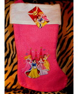 NEW Disney Princesses Christmas Pink and White Stocking, NEW WITH TAG - $3.99