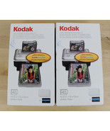 Lot of 2 Kodak EasyShare PH40 Color Cartridge & Photo Paper Kits Total 8... - $34.64