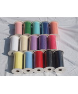 """162 ROLLS NEW TULLE 6"""" X 25 YARDS MIXED COLORS - $349.00"""