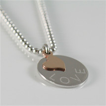Necklace to Balls Silver 925 Jack&co with Heart in Rose Gold 9KT JCN0545 image 2