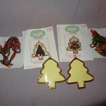 Pair Christmas Tree Reindeer Cross Stitch Kits 1988 Santas Workbench Frames - $8.23