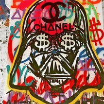 Alec Monopoly Oil Painting on Canvas Urban art decor Chanel Darth Vader ... - $27.71