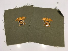 Original Wwii Officer Cut Edges Quartermaster Corps Insignia On Od Uncut Patch - $2.99