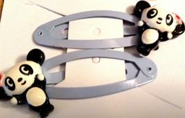Gymboree Girls~Panda Club Line ~Hair~Blue Barrettes Snaps Clips Bear NWT Cute - $11.95