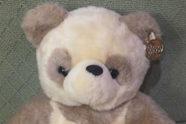 "12"" Platinum Plus Panda Teddy Bear CREAM Colored Plush Golden Ear Tag Cuddly image 2"