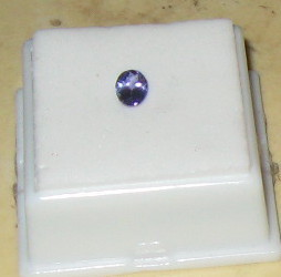 TANZANITE, 7 X 5 OVAL, .65 CT., NEW IN JEWELER'S CASE