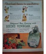 Vintage Heinz Vinegar Good Luck Secrets Print Magazine Advertisement 1945 - $7.99