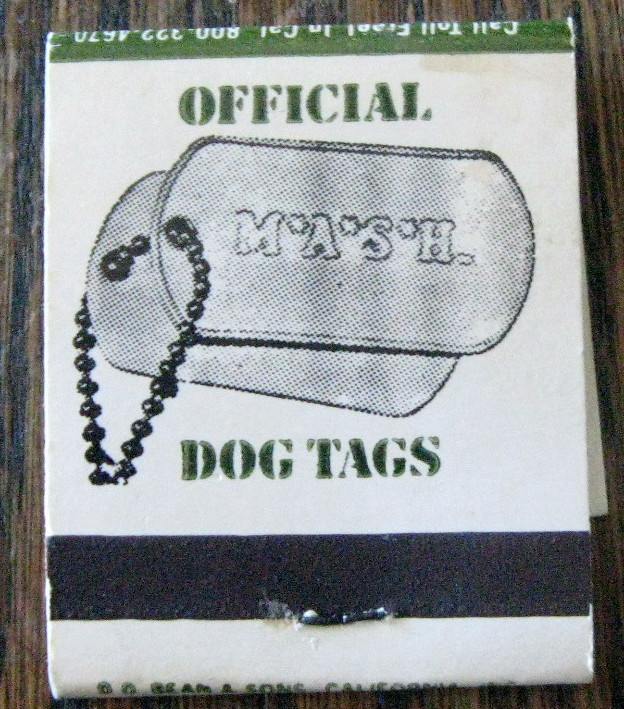 """VINTAGE MATCHBOOK FROM """"M.A.S.H"""" 1960'S. UNUSED.  MINT!"""