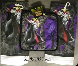 Pot Holder Kitchen Towel Dracula Vampire Halloween Set  - $9.99