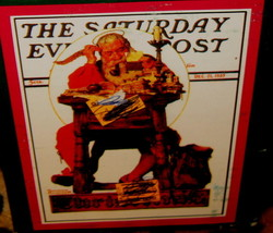 "VTG READING ""NORMAN ROCKWELL""SATURDAY EVENING POST MUG - $27.44"