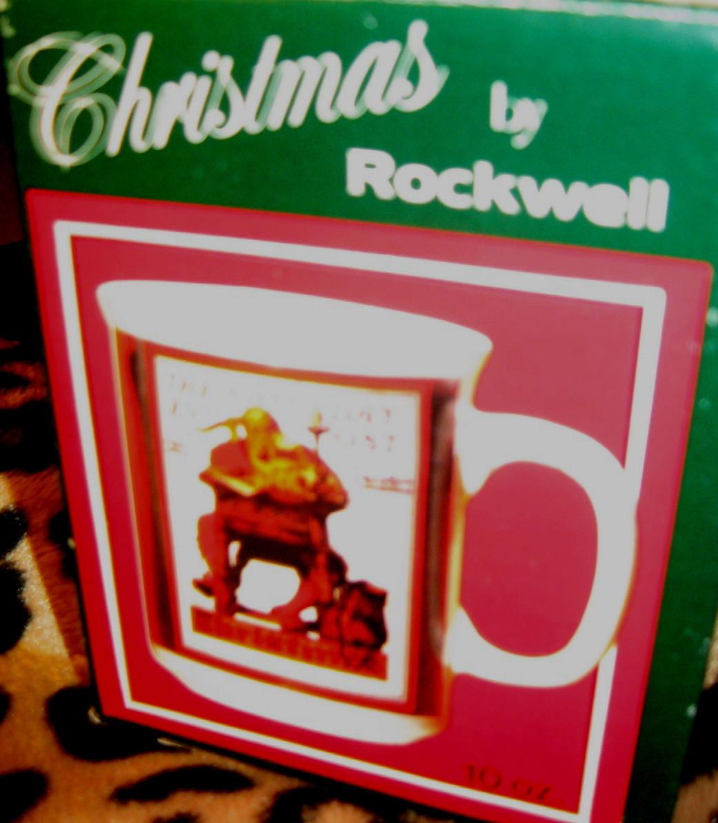 "VTG READING ""NORMAN ROCKWELL""SATURDAY EVENING POST MUG"
