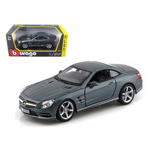 Mercedes SL 500 Coupe Grey 1/24 Diecast Car Model by Bburago 21067gry - $31.20