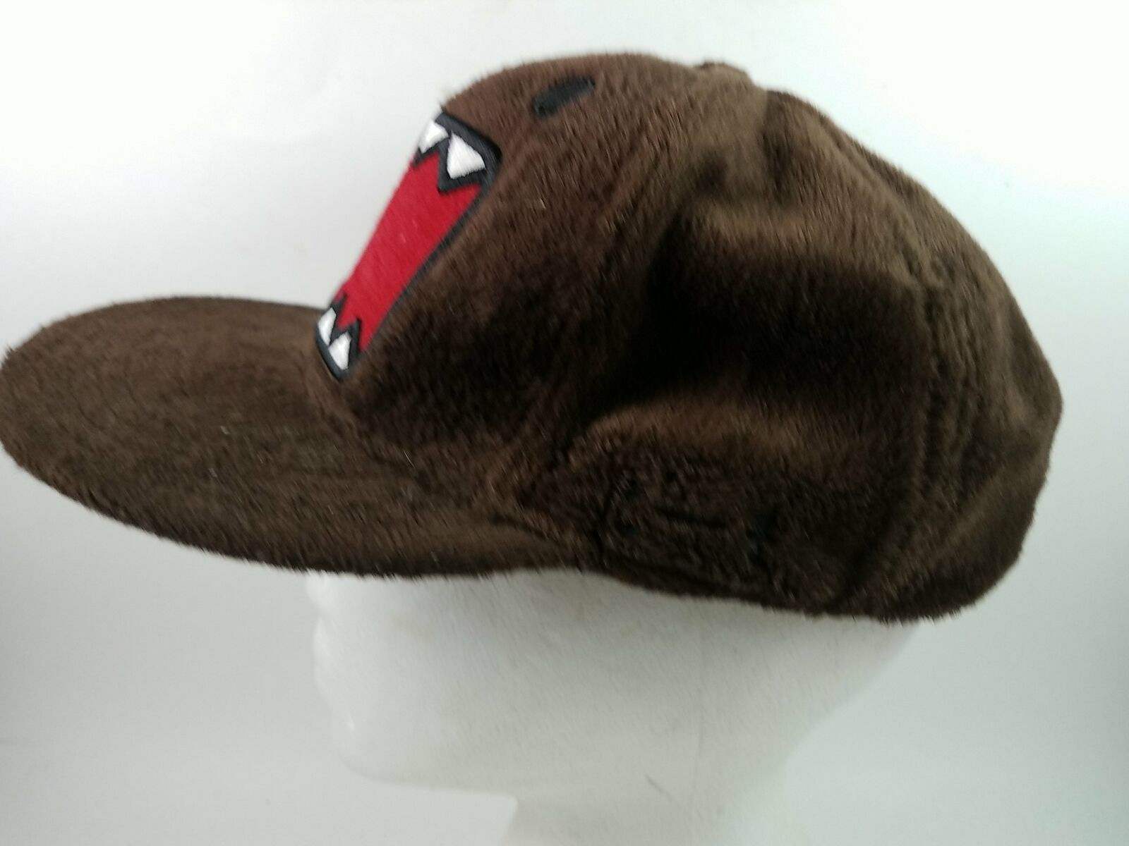Domo Japanese Big Mouth Brown Snap Back Ball Cap Hat