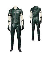 Arrow Season 4 Oliver Queen Cosplay Costume PU Leather Outfit Full Set - $280.94