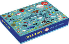 Ocean Life 1000 Piece Family Puzzle - $15.99